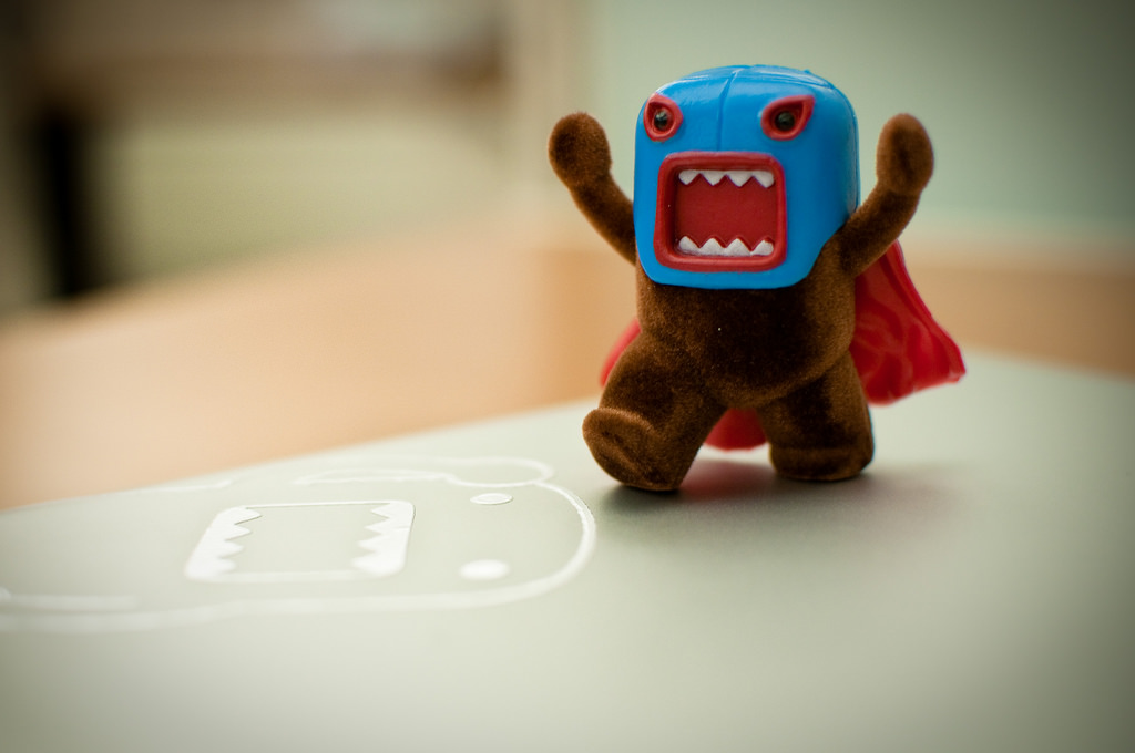 photo of a toy robot looking outraged